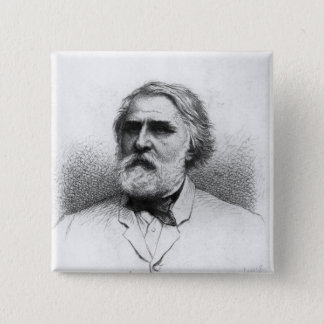 Portrait of Ivan Turgenev 15 Cm Square Badge