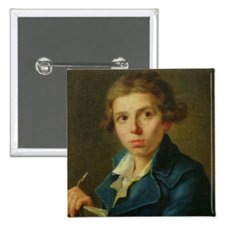 Portrait of Jacques-Louis David  as a Youth Pinback Buttons