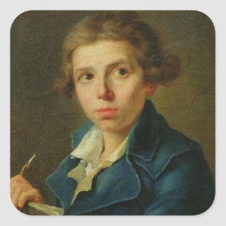 Portrait of Jacques-Louis David  as a Youth Stickers