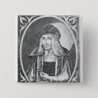 Portrait of James IV of Scotland 15 Cm Square Badge