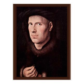 Portrait Of Jan De Leeuw By Eyck Jan Van (Best Qua Postcard