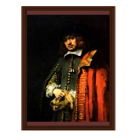 Portrait Of Jan Six By Rembrandt Harmensz. Van Postcard