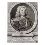 Portrait of Jean Bernoulli  engraved by Print