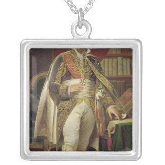 Portrait of Jean-Jacques-Regis de Cambaceres Silver Plated Necklace