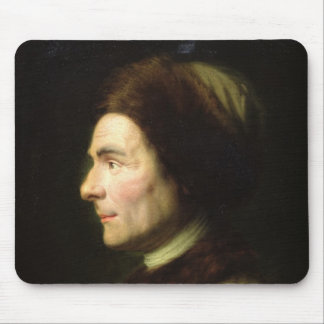 Portrait of Jean-Jacques Rousseau Mouse Pads