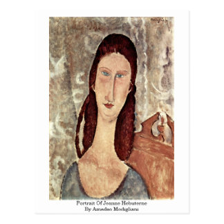 Portrait Of Jeanne Hebuterne By Amedeo Modigliani Postcard