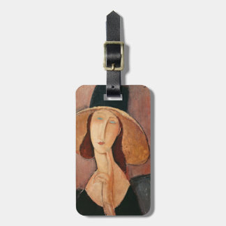 Portrait of Jeanne Hebuterne in a large hat Luggage Tag