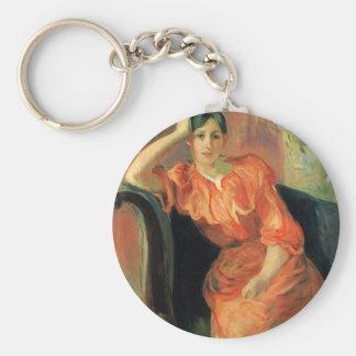 Portrait of Jeanne Pontillon by Berthe Morisot Key Chains