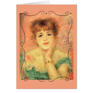 Portrait of Jeanne Samary by Renoir Blank Inside Card