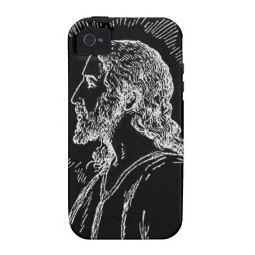 Portrait of Jesus Case-Mate Tough™ iPhone 4 Cases