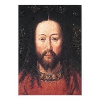 Portrait of Jesus Christ by Jan van Eyck 9 Cm X 13 Cm Invitation Card