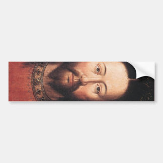 Portrait of Jesus Christ by Jan van Eyck Bumper Sticker