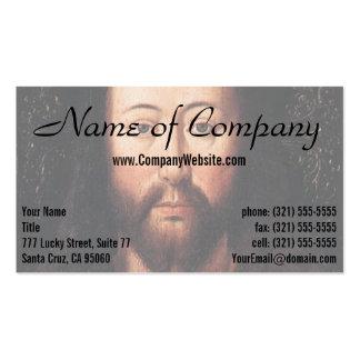 Portrait of Jesus Christ by Jan van Eyck Business Cards