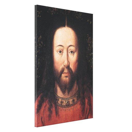 Portrait of Jesus Christ by Jan van Eyck Canvas Print
