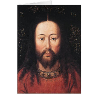 Portrait of Jesus Christ by Jan van Eyck Card