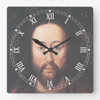 Portrait of Jesus Christ by Jan van Eyck Clock