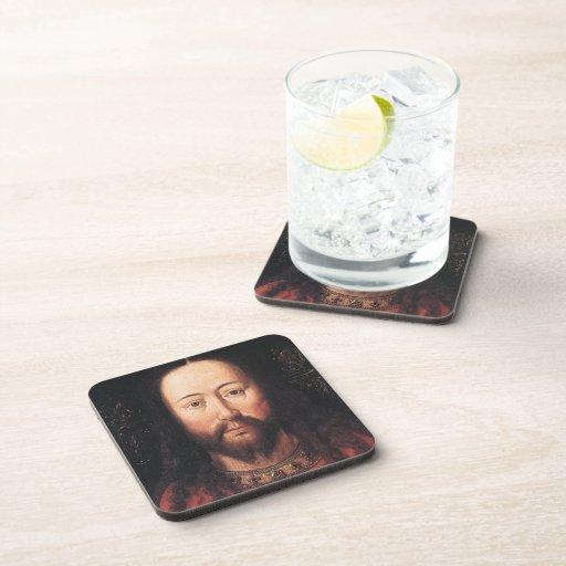 Portrait of Jesus Christ by Jan van Eyck Beverage Coasters