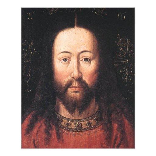 Portrait of Jesus Christ by Jan van Eyck Flyer Design
