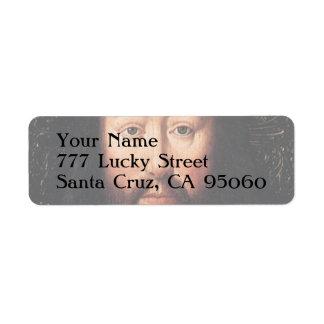 Portrait of Jesus Christ by Jan van Eyck Return Address Label
