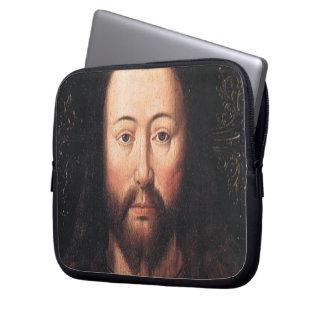 Portrait of Jesus Christ by Jan van Eyck Laptop Computer Sleeves