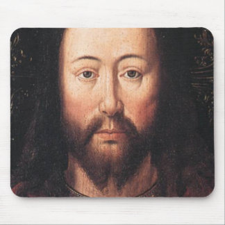 Portrait of Jesus Christ by Jan van Eyck Mouse Pad