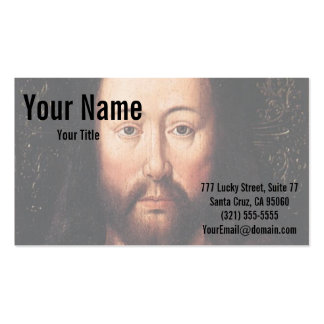 Portrait of Jesus Christ by Jan van Eyck Pack Of Standard Business Cards