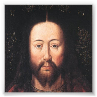 Portrait of Jesus Christ by Jan van Eyck Photo Print