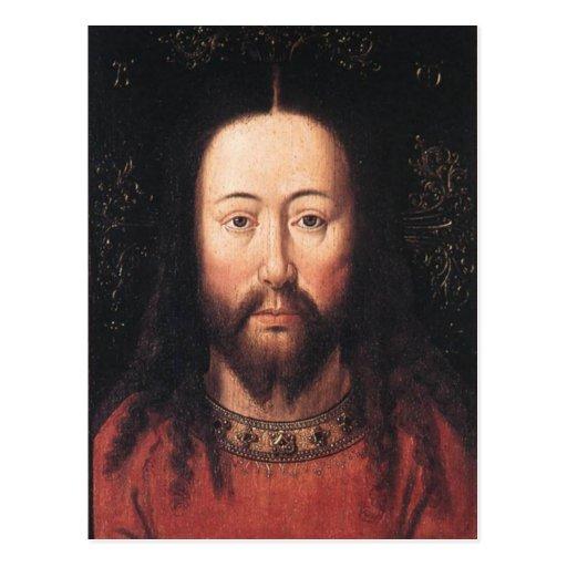 Portrait of Jesus Christ by Jan van Eyck Postcard
