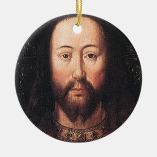 Portrait of Jesus Christ by Jan van Eyck Round Ceramic Decoration