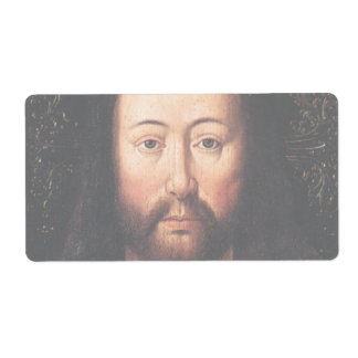 Portrait of Jesus Christ by Jan van Eyck Shipping Label