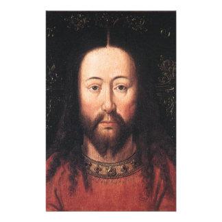 Portrait of Jesus Christ by Jan van Eyck Stationery