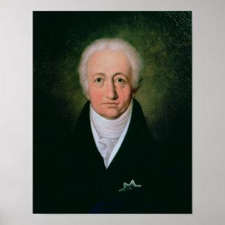 Portrait of Johann Wolfgang von Goethe , 1818 Poster