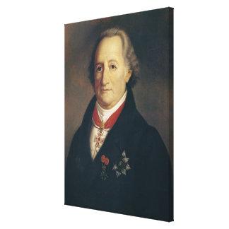 Portrait of Johann Wolfgang von Goethe Canvas Print