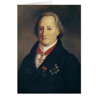 Portrait of Johann Wolfgang von Goethe Card