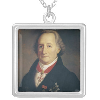 Portrait of Johann Wolfgang von Goethe Silver Plated Necklace