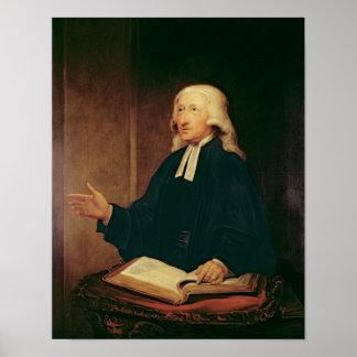 Portrait of John Wesley  1788 Poster