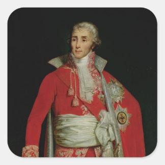 Portrait of Joseph Fouche  Duke of Otranto Square Sticker
