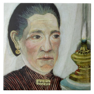 Portrait of Josephine, the artist's second wife, c Large Square Tile