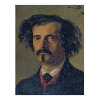 Portrait of Jules Barbey d'Aurevilly  1860 Postcard
