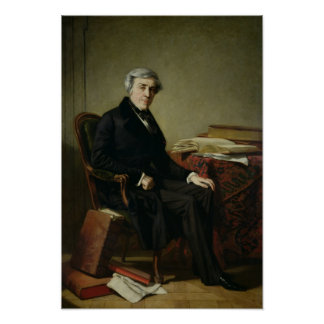 Portrait of Jules Michelet Poster