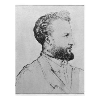 Portrait of Jules Verne  d Postcard