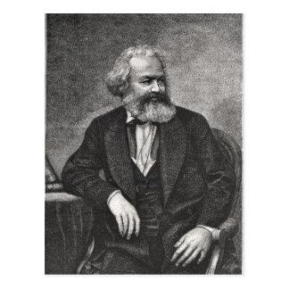 Portrait of Karl Marx  1857 Postcard