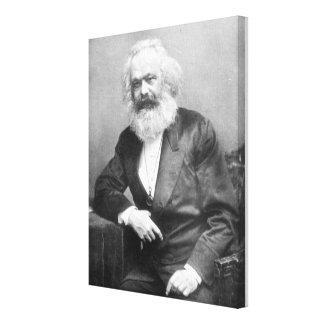 Portrait of Karl Marx Stretched Canvas Prints