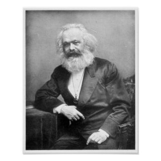 Portrait of Karl Marx Poster