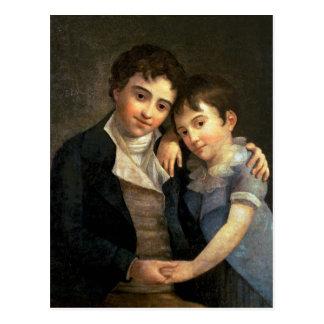 Portrait of Karl Thomas  and Franz Xaver Postcard