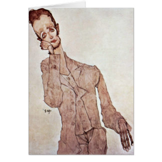 Portrait Of Karl Zakovsek By Egon Schiele Card