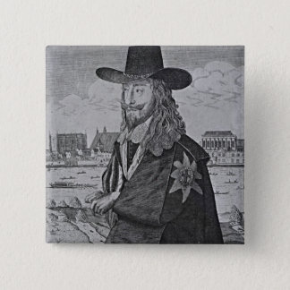 Portrait of King Charles I 15 Cm Square Badge