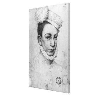Portrait of King Charles IX of France, 1561 Gallery Wrap Canvas