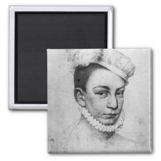 Portrait of King Charles IX of France, 1561 Square Magnet