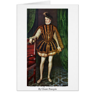 Portrait Of King Charles Ix. Of France Greeting Cards